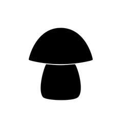 Mushroom symbol on white vector