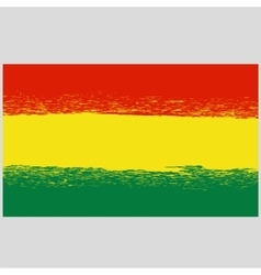 National Grunge Flag of Bolivia Isolated vector