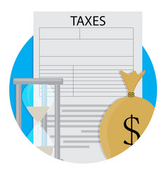 Pay taxes icon vector