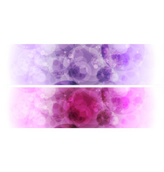 purple and violet bokeh effect abstract banners vector image