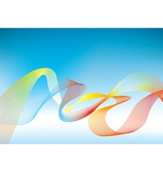 Rainbow presentation background vector image