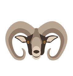 Ram head flat style vector