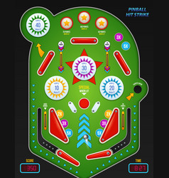 Realistic 3d pinball composition vector