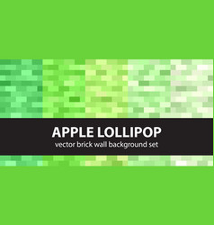 Rectangle pattern set apple lollipop seamless vector
