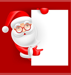 santa claus and blank sheet vector image