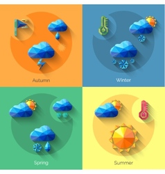 Seasons Weather Set vector
