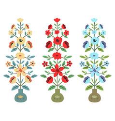 Set flower bouquets vector