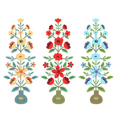 set of flower bouquets vector image