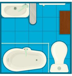 simple bath concept banner cartoon style vector image
