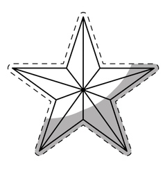 Star cartoon icon image vector
