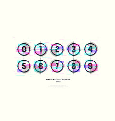 Stock decorative numbers in round frames vector