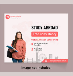 Study abroad vector