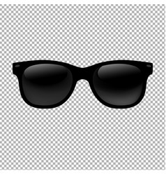 Sunglasses in transparent background vector