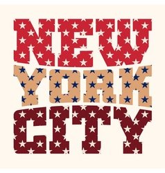 T shirt typography graphics New York style stars vector