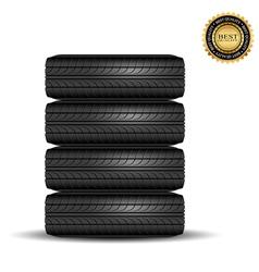 tire black best1 vector image