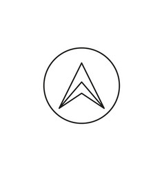 Up modern arrow in circle icon vector