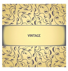 Vintage floral pattern with aged effect vector