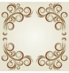 Vintage frame elements vector