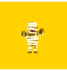 a mummy character for halloween in vector image