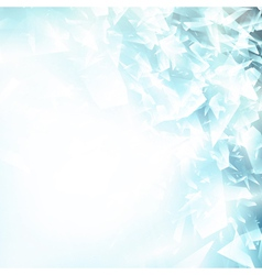 abstract blue ice background vector image