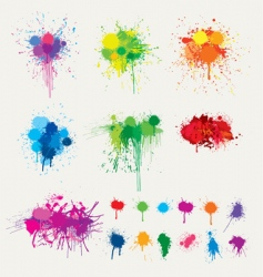 colorful splats vector image vector image