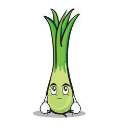 eye roll leek character cartoon vector image vector image