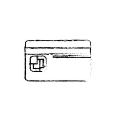 figure credit card to save money in the bank vector image