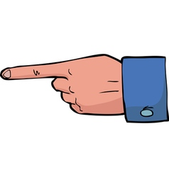 point the finger vector image