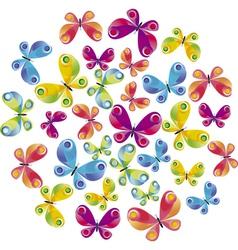 summer butterflies vector image vector image