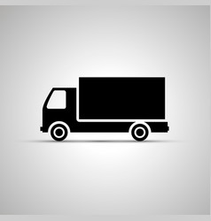 truck silhouette simple black phone icon vector image