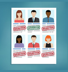 candidate selection for work vector image