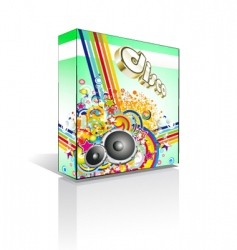 disco music box or package vector image