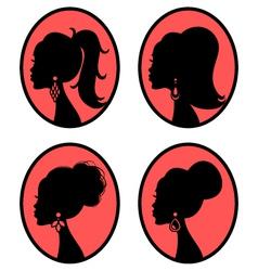 elegant hairstyles vector image vector image