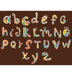 funny color Alphabet vector image