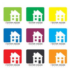 House icon collection vector image vector image