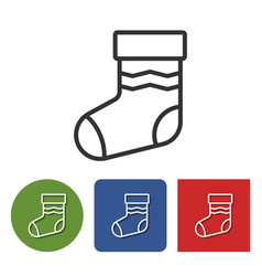 line icon of christmas stocking vector image