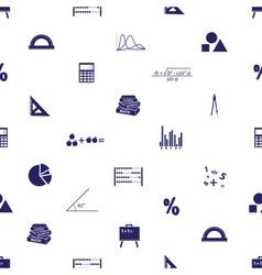 mathematics icons seamless pattern eps10 vector image