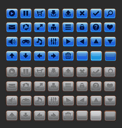 game buttons gui pack vector image