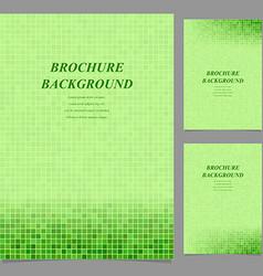 Modern square pattern brochure background set vector image
