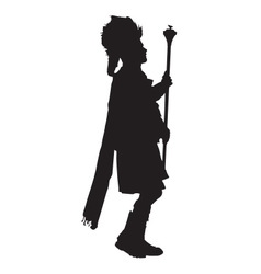 Pipe Band Leader Silhouette vector image vector image
