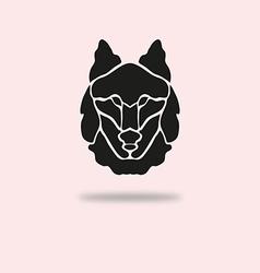 wolf symbol vector image vector image