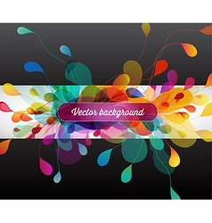 Abstract colored background with flower petals vector image vector image