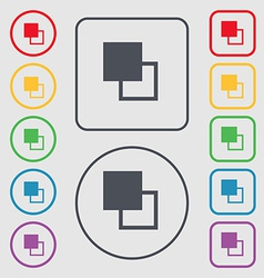 Active color toolbar icon sign symbol on the Round vector image