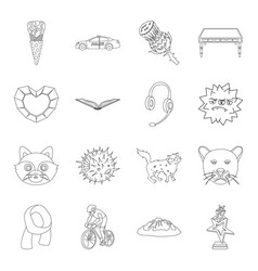 education sport animal and other web icon in vector image