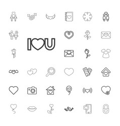 33 love icons vector
