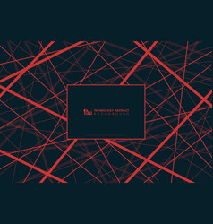 Abstract technology black tech red line elements vector