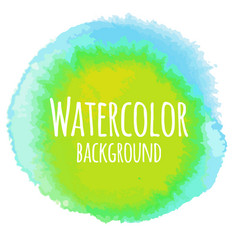 Abstract watercolor background yellow and blue vector
