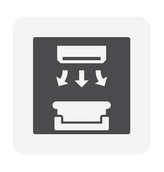 Air flow icon vector