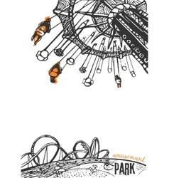 Amusement Park on a White Background vector