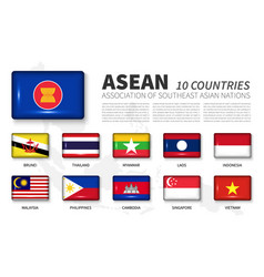 Asean and membership association of southeast vector